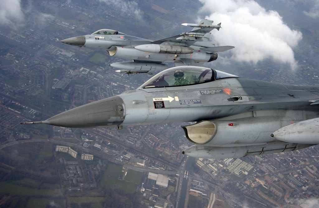 Avondvliegoefeningen vliegbasis Volkel in 2021