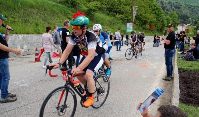 Marc van der Locht fietste vijf keer de Alpe d'Huez