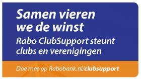 Rabobank viert de winst tijdens finaleavond van Rabo ClubSupport