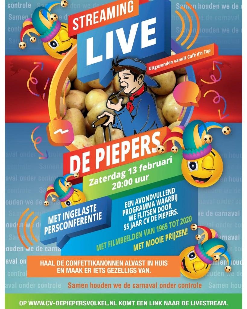 Livestreaming de Piepers!