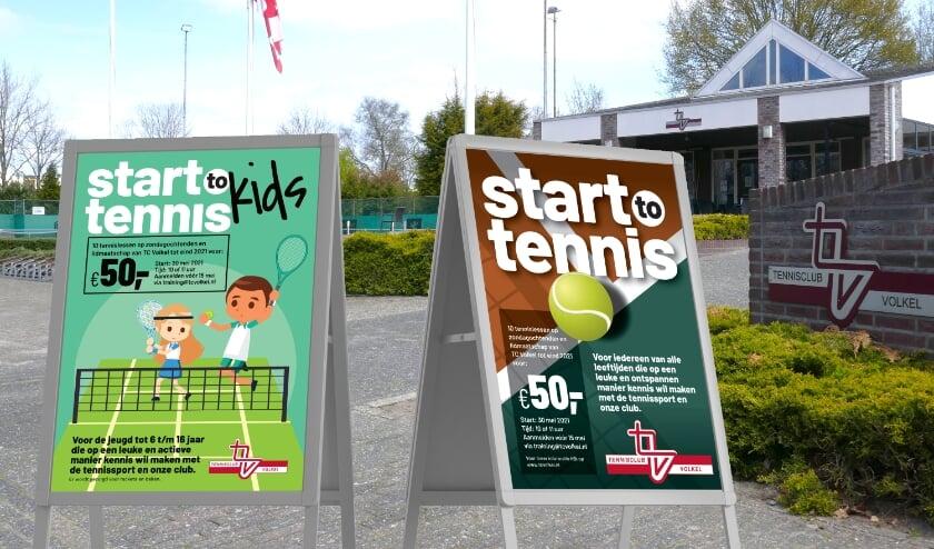 'Start-to-Tennis' bij TC Volkel voor senioren en jeugd