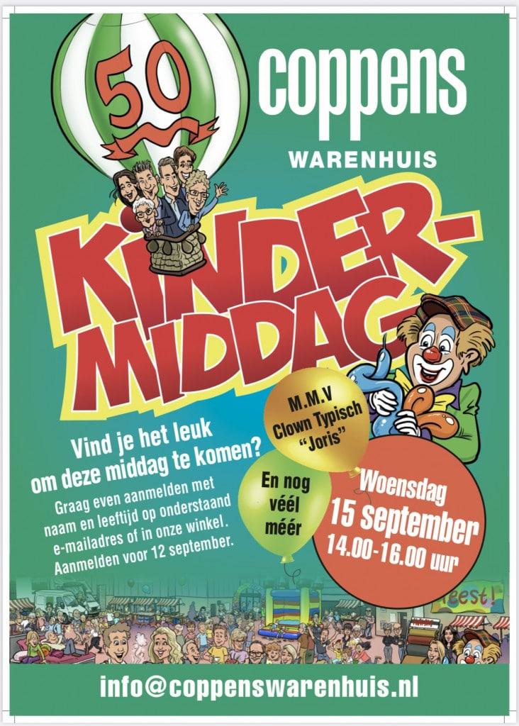 Kindermiddag bij Coppens Warenhuis