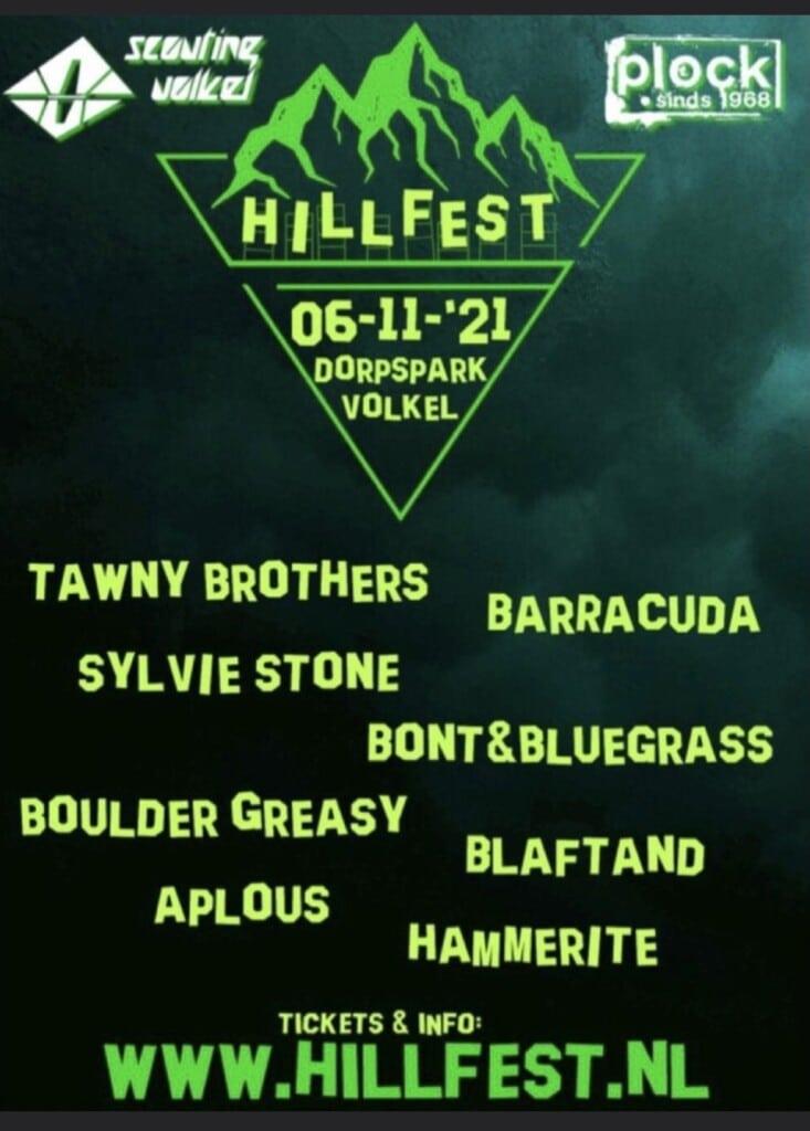 Zaterdag 6 november Hillfest!